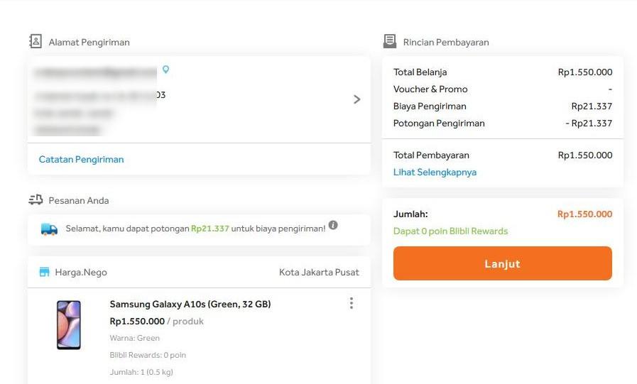 Gambar 2 : Cara Belanja Online Bayar di Tempat di Blibli