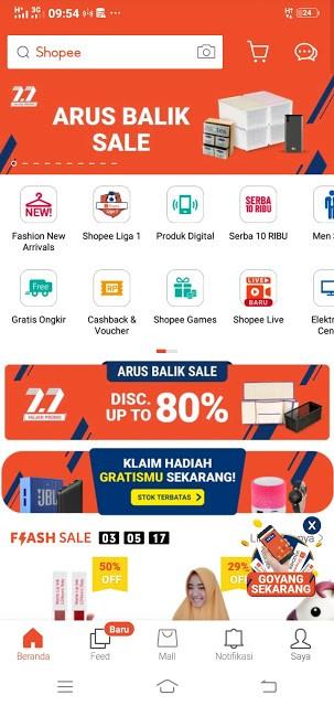 Gambar 1 : Cara Belanja Online Bayar di Tempat di Shopee