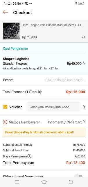 Gambar 5 : Cara Belanja Online Bayar di Tempat di Shopee