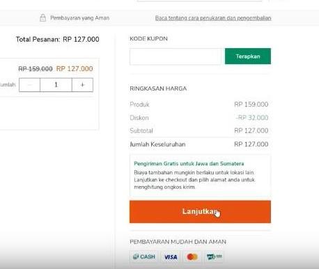 Gambar 2 : Cara Belanja Online Bayar di Tempat di Zilingo