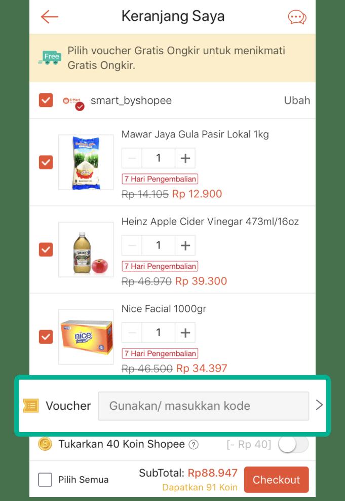 cara menggunakan voucher saat berbelanja di Shopee_1