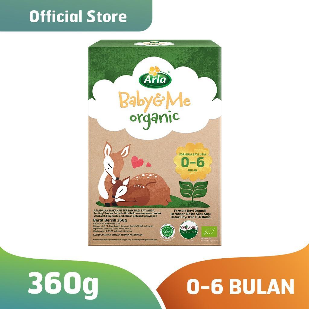 Harga-Arla Baby & Me Organic - Susu Formula Bayi Organik 0-6 bulan 360 gr