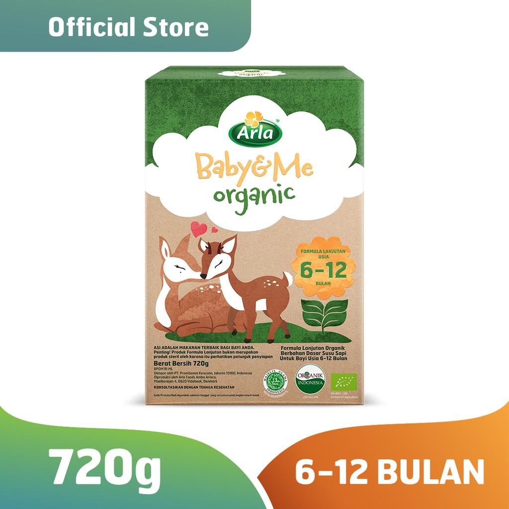 Harga-Arla Baby & Me Organic - Susu Formula Bayi Organik 6-12 bulan 720 gr