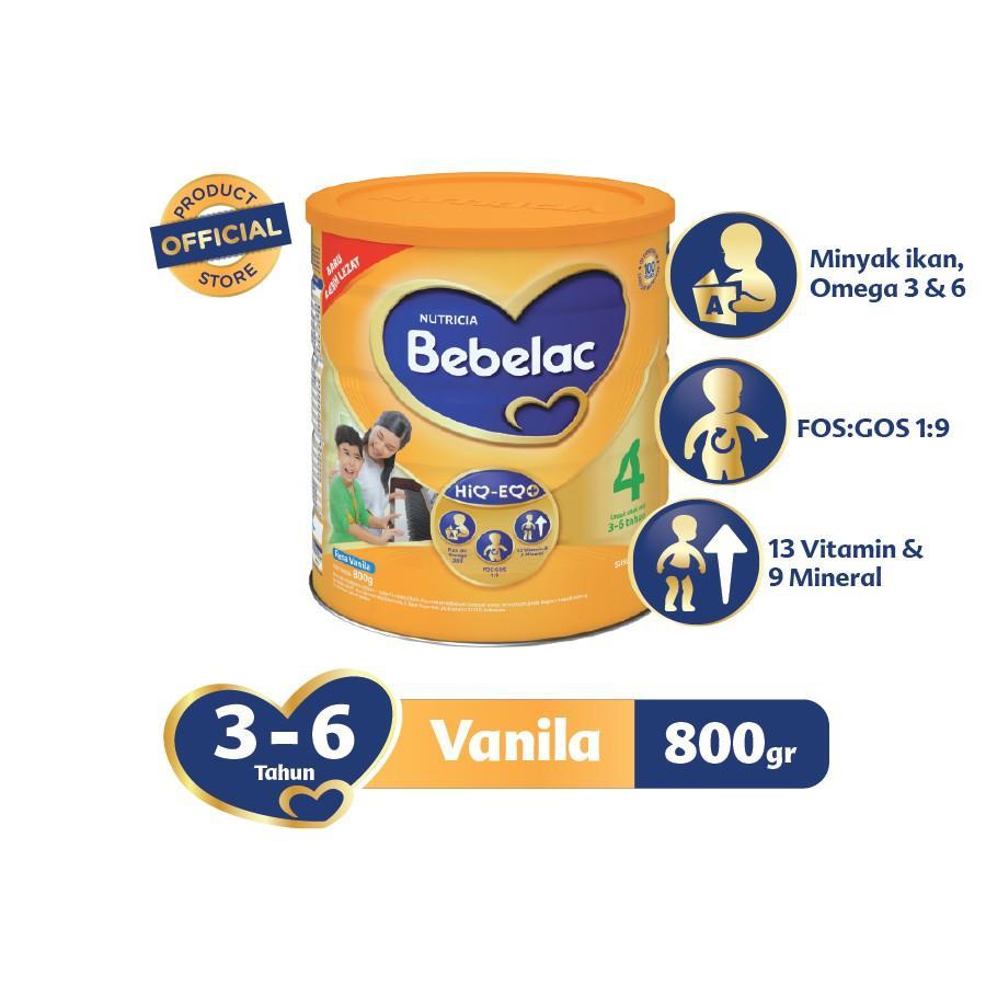 Harga-Bebelac 4 Vanila Susu Bubuk 800 gr