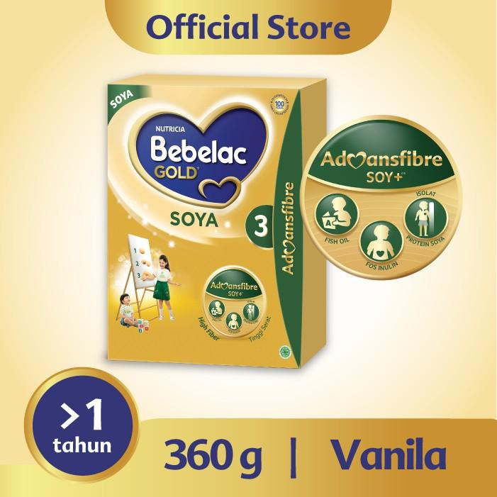 Harga-Bebelac Gold Soya 3 Vanila 360 gr