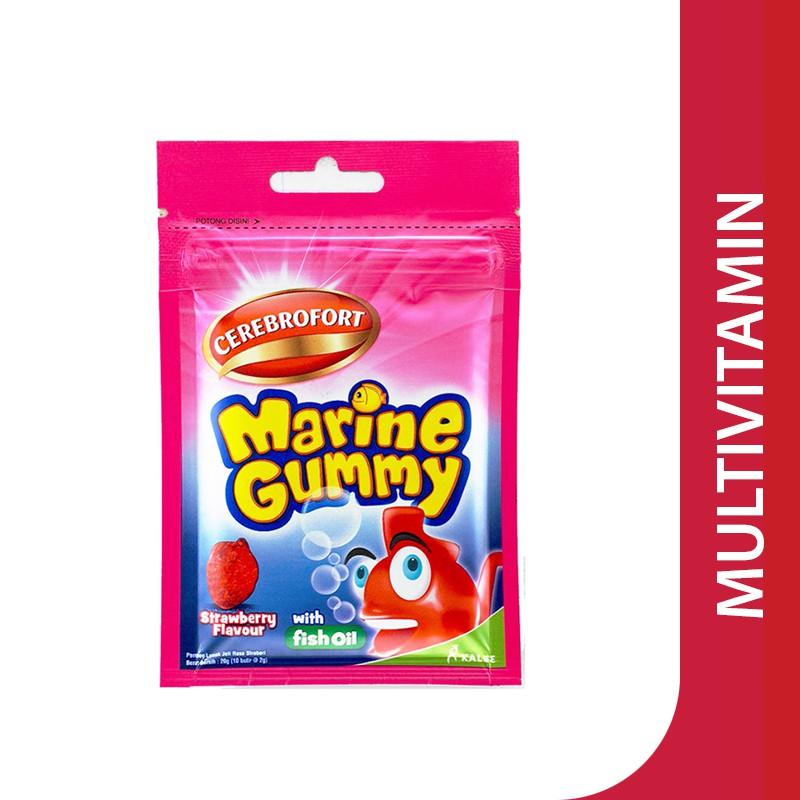 Harga-Cerebrofort Marine Gummy Strawberry Flavor