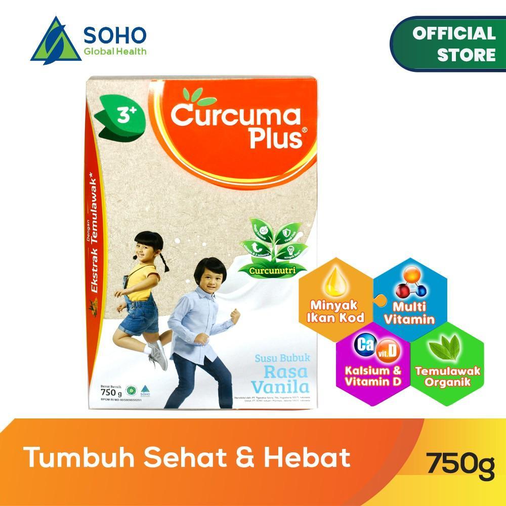 Harga-Curcuma Plus Susu Bubuk Ekstrak Temulawak - Vanila 750 gr