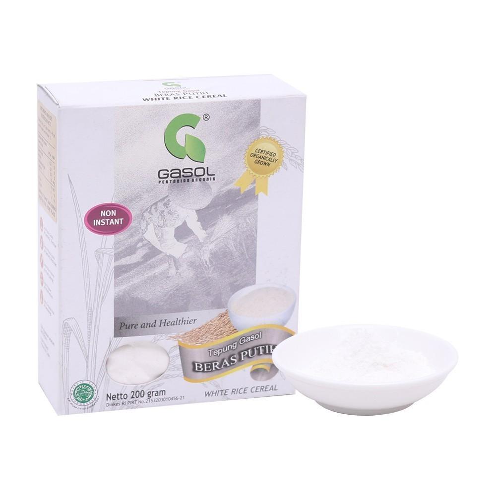 Harga-GASOL Organik Tepung Beras Putih 200 gr