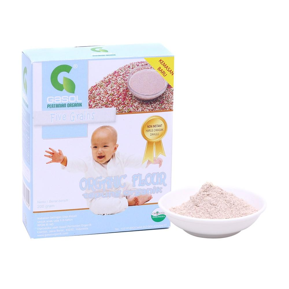 GASOL Organik Tepung Five grains 200 gr