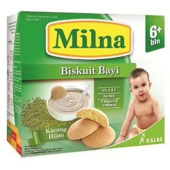 Milna Biskuit AA+DHA Bayi Kacang Hijau 130 gr