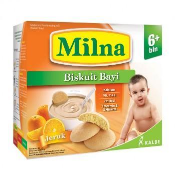 Milna Biskuit AA+DHA Jeruk 130 gr
