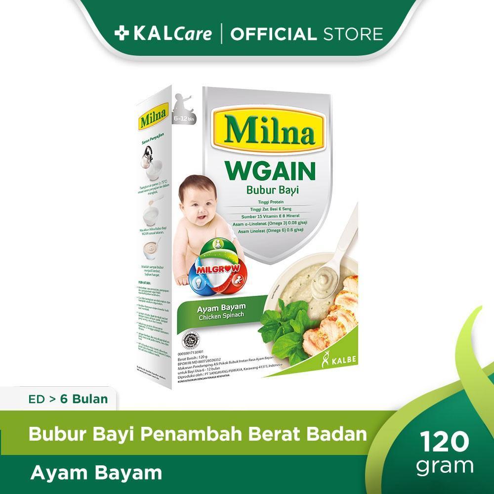 Harga-Milna Bubur Bayi Wgain 6 Bl Ayam Bayam 120 G