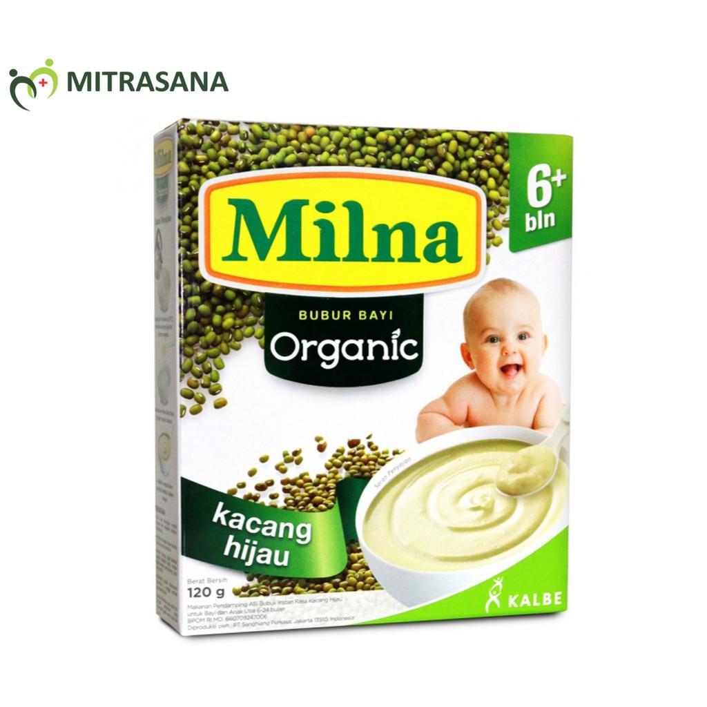 Harga-Milna Bubur Organik 6 Bln Kacang Hijau 120 gr