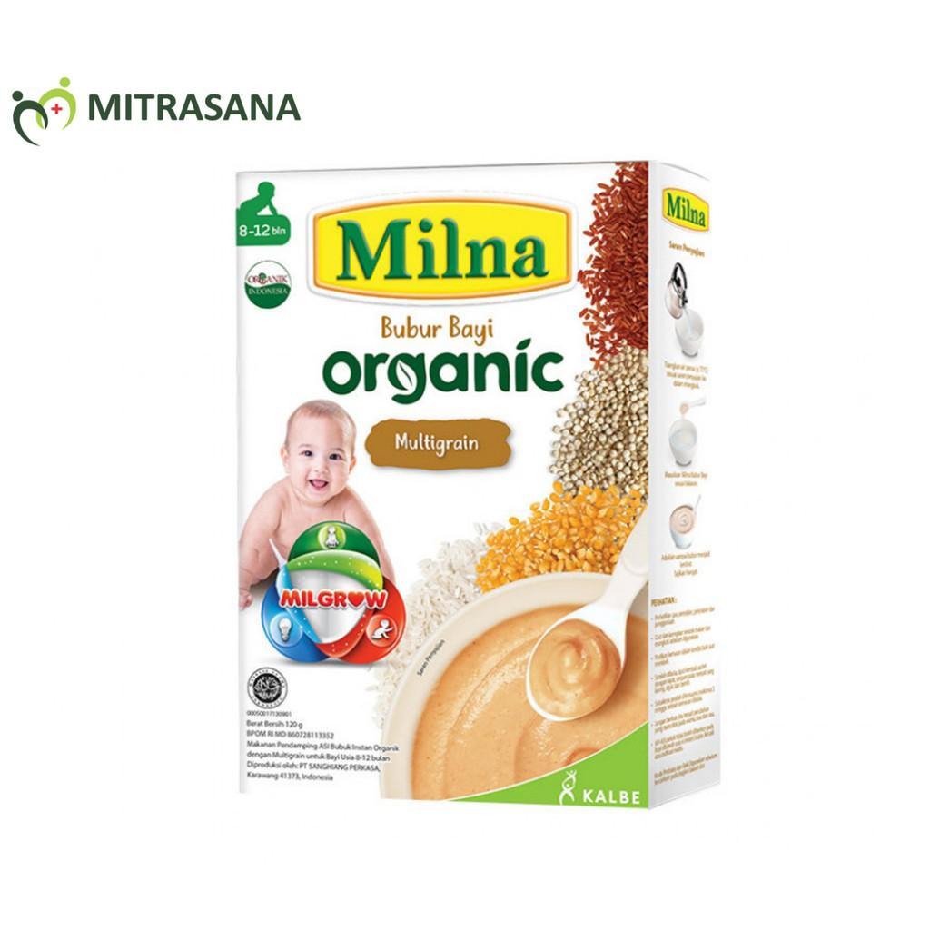 Harga-Milna Bubur Organik 8 Bulan Multi grain 120 gr