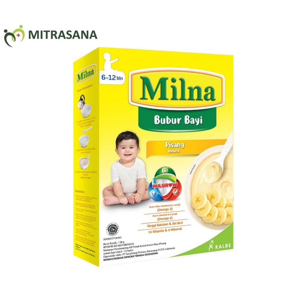 Milna Bubur Reguler 6 Bulan Pisang Strawberry 120 gr