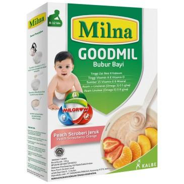 Harga-Milna Goodmil Peach Strawberry Jeruk 9+ 120 gr