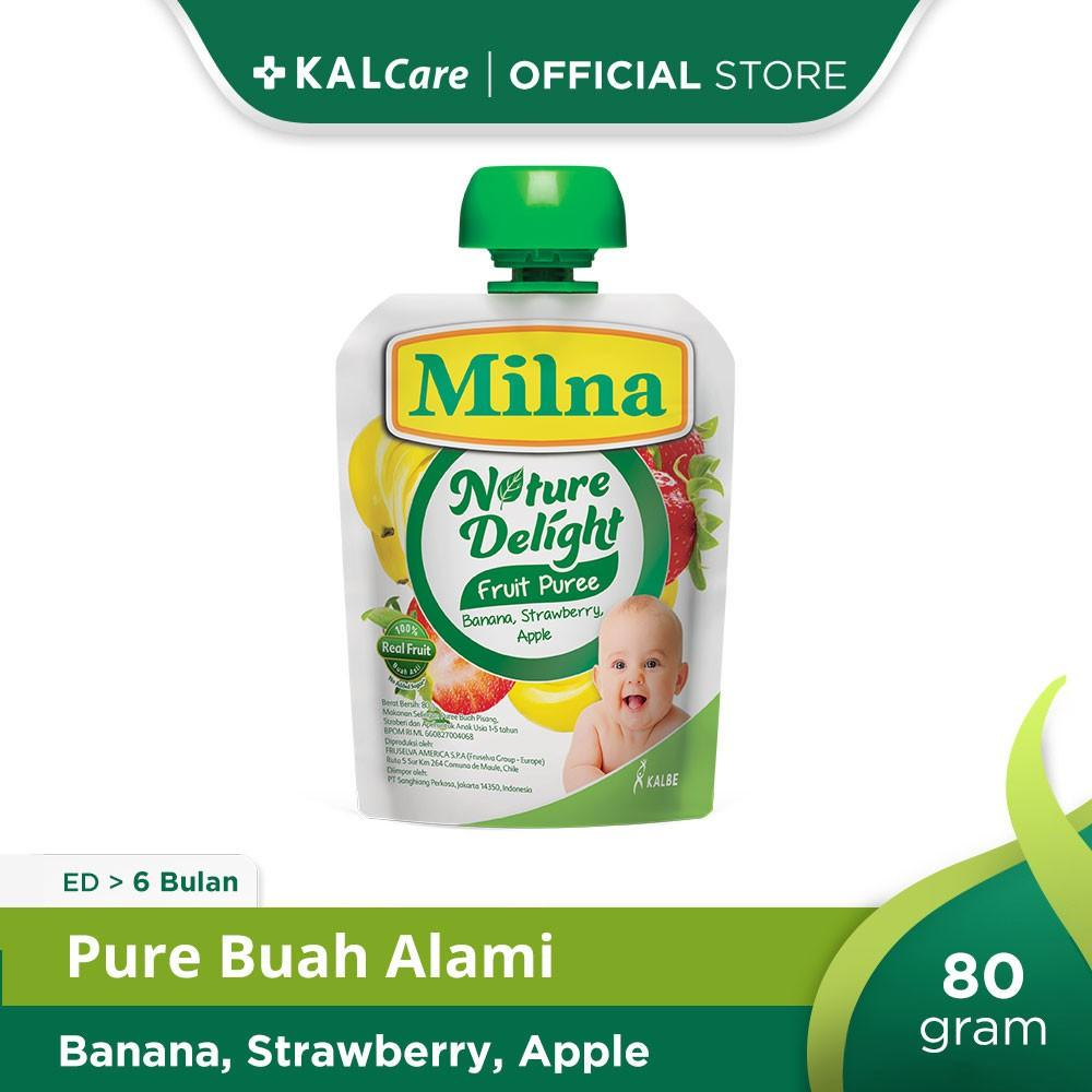 Milna Nature Delight Nature Apple, Banana & Strawberry 80 gr