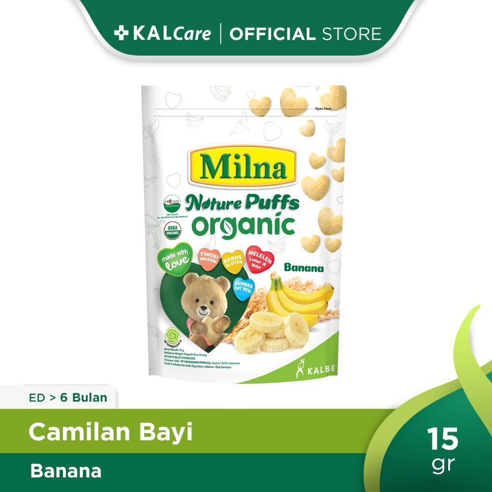 Milna Nature Puff Organic Banana 15 G