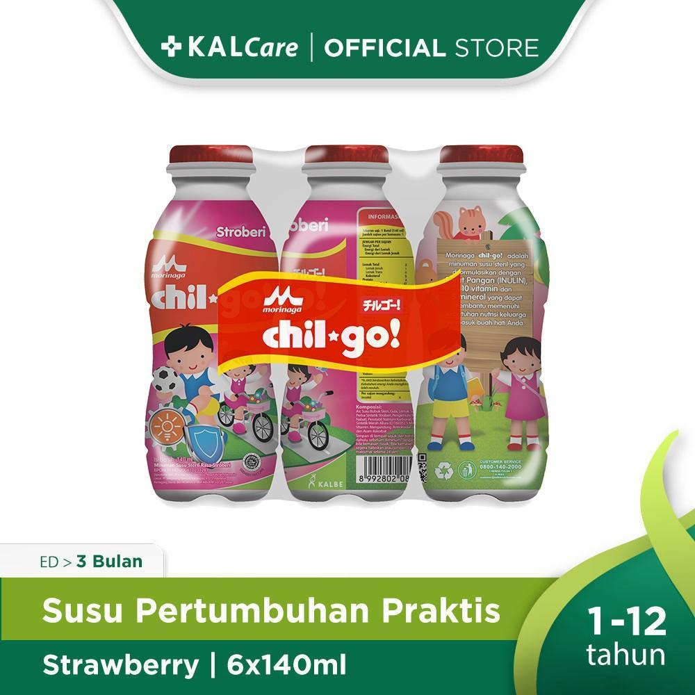 Harga-Morinaga Chil Go Milk Strawberry 6X140 ml