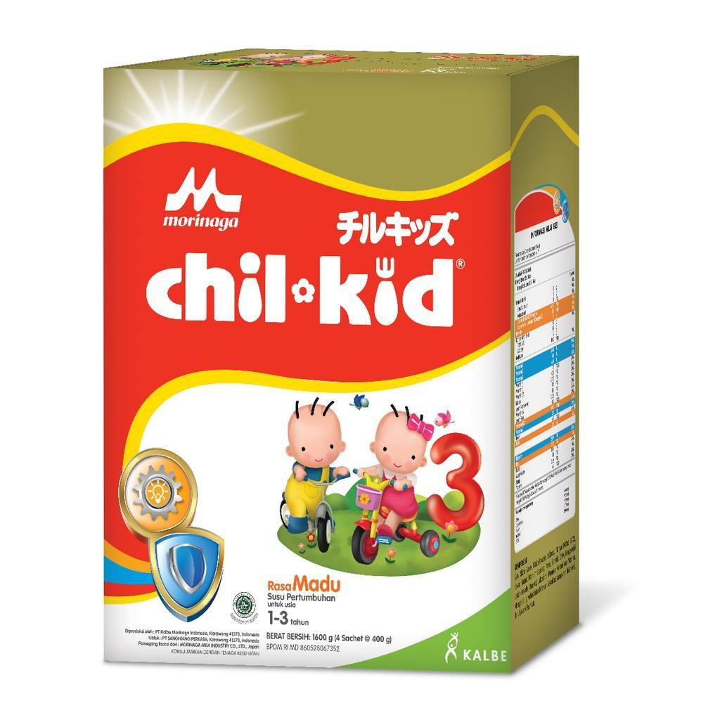 Harga-Morinaga Chil Kid 3 Madu 1600 gr - Susu Pertumbuhan Tahap 3 (1-3 Tahun)