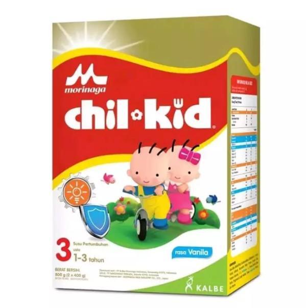 Harga-Morinaga Chil Kid 3 Vanila 800 gr - Susu Pertumbuhan Tahap 3 (1-3 Tahun)