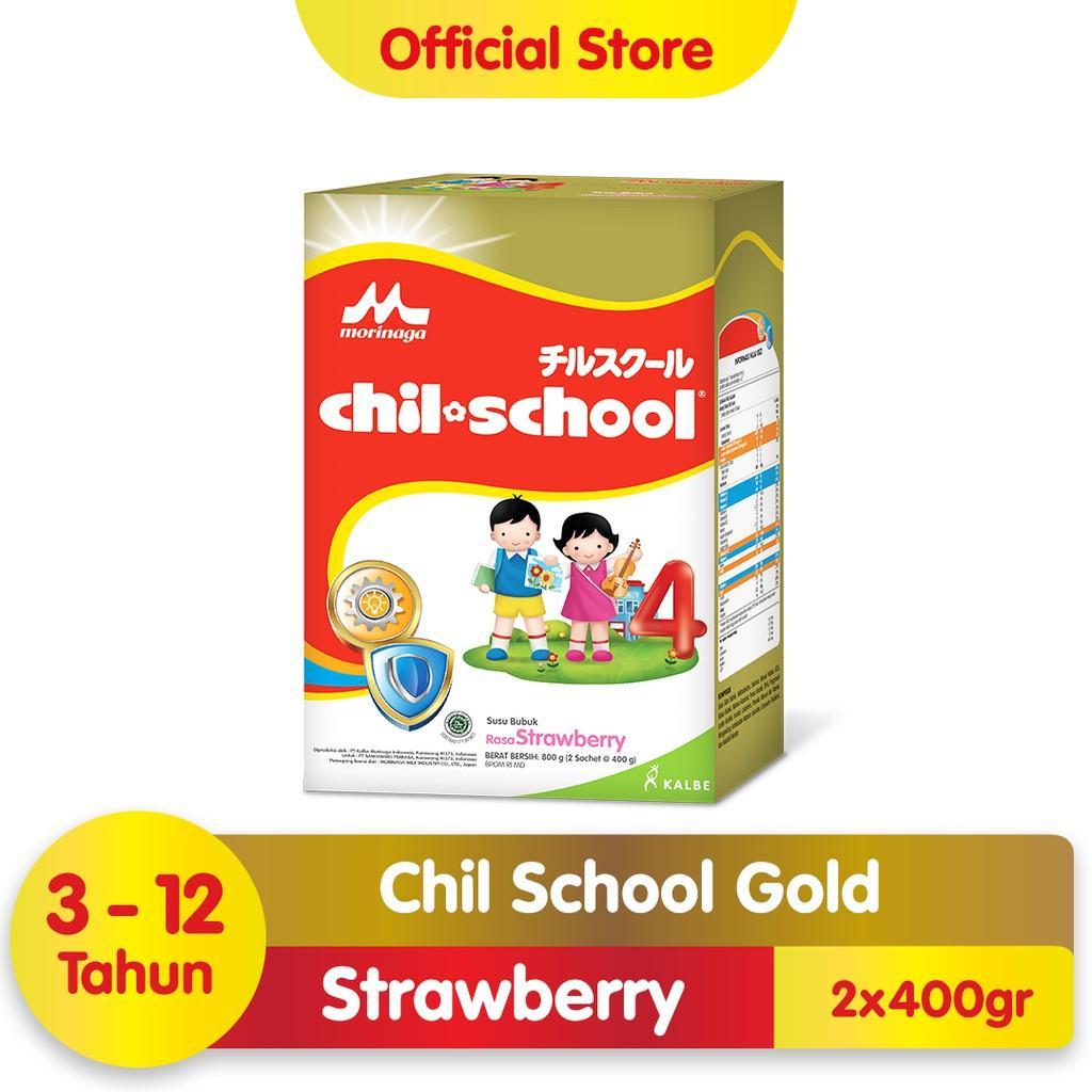 Harga-Morinaga Chil School Gold Strawberry 800 gr