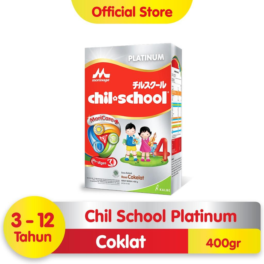 Harga-Morinaga Chil School Platinum Moricare+ Coklat 400 gr