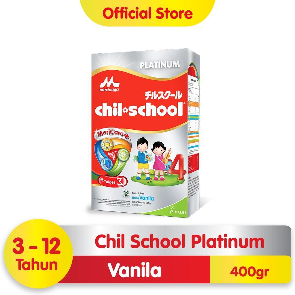 Harga-Morinaga Chil School Platinum Moricare+ Vanila 400 gr