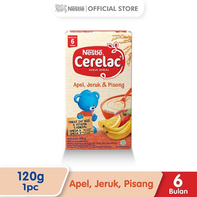 Harga-Nestle Cerelac 6+ Rasa Apel Jeruk Pisang Box 120 g
