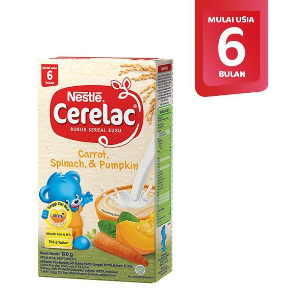 Nestle Cerelac 6+ Rasa Wortel Bayam Labu Box 120 g