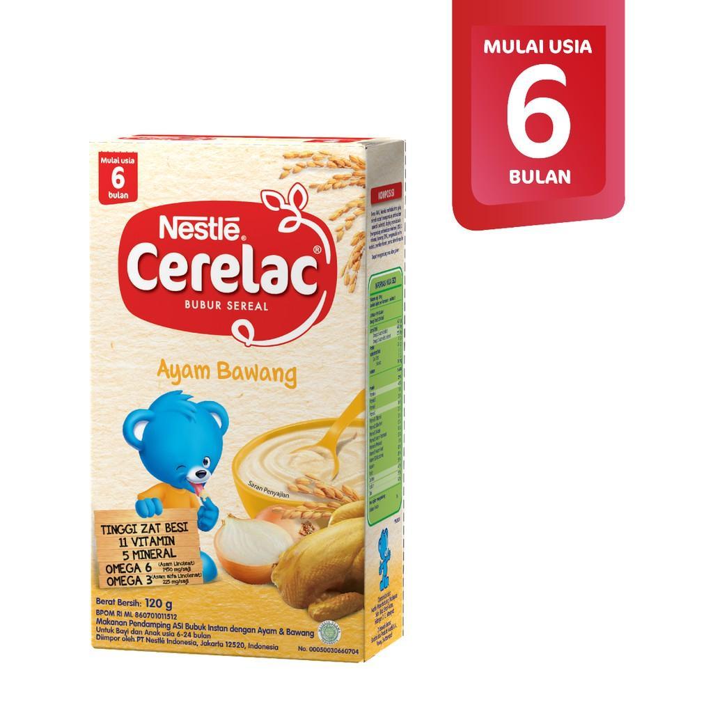 Harga-Nestle Cerelac Ayam & Bawang Food Cereal Makanan Pendamping ASI