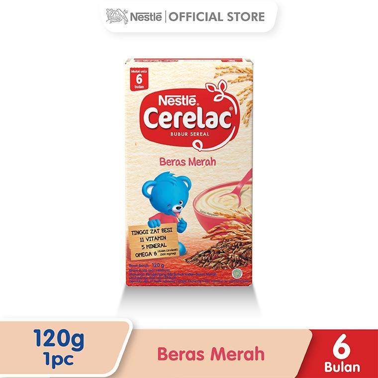 Harga-Nestle Cerelac Bubur Bayi Instant Usia 6-24 Bulan Rasa Beras Merah Box 120 g