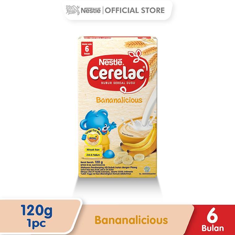 Harga-Nestle Cerelac Bubur Bayi Instant Usia 6-24 Bulan Rasa Pisang Susu Box 120 g