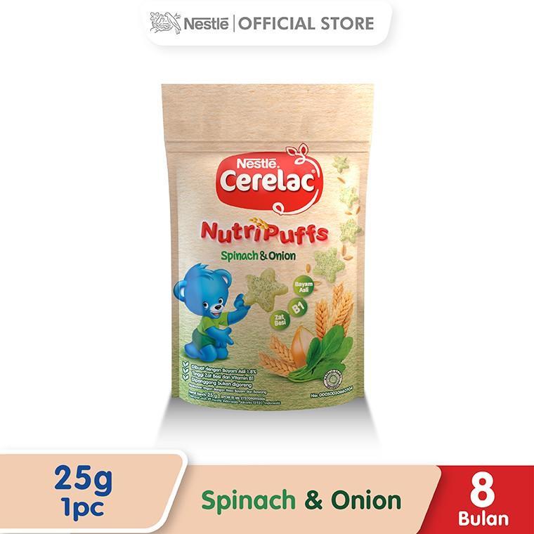 Harga-Nestle Cerelac Nutripuff Snack Bayi Usia 8 Bulan Ke Atas Rasa Bayam Pouch 25 g