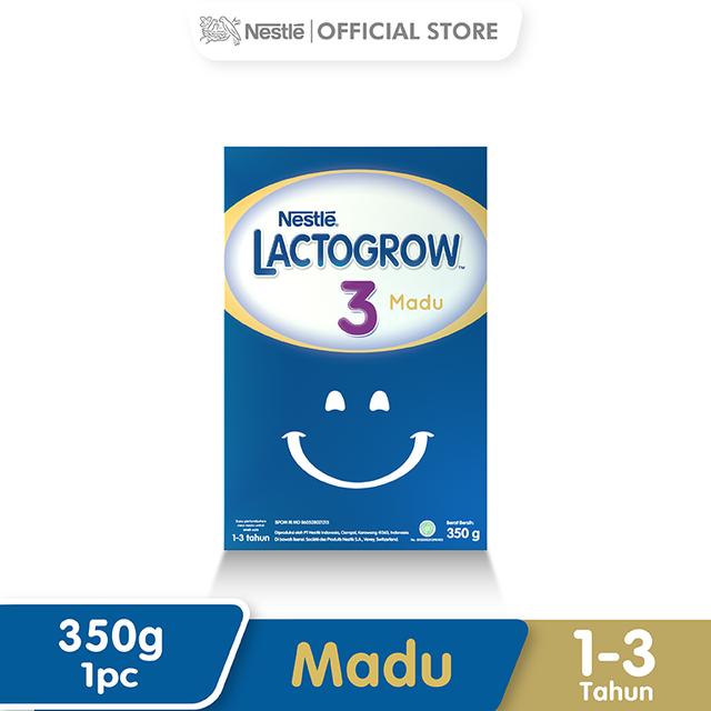 Harga-Nestle Lacto grow 3 Madu 1-3 Tahun Box 350 g