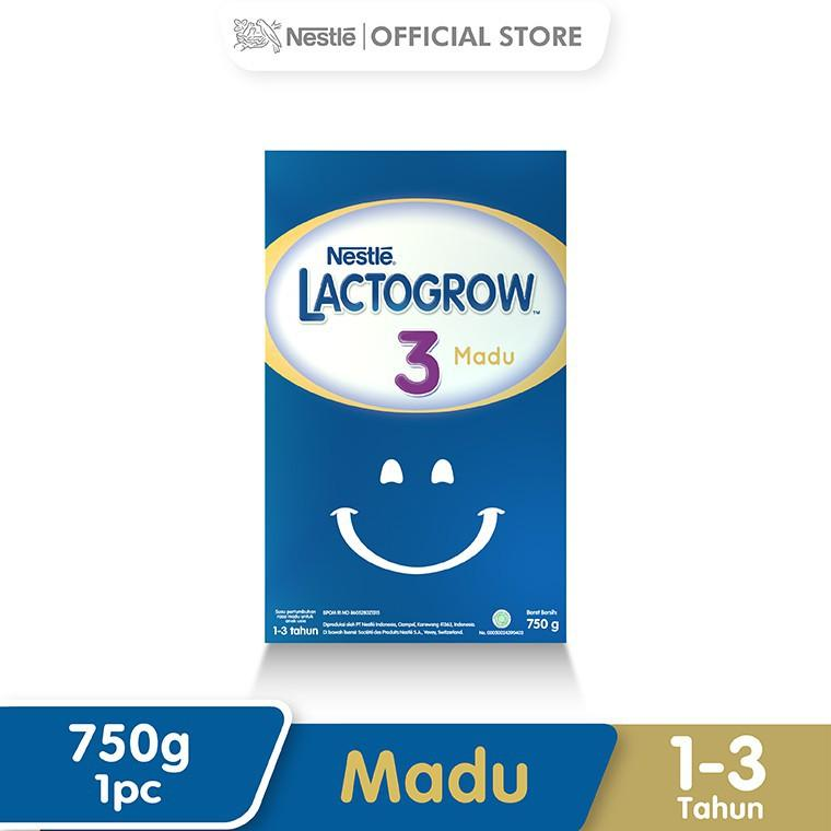 Harga-Nestle Lacto grow 3 Madu 1-3 Tahun Box 750 g