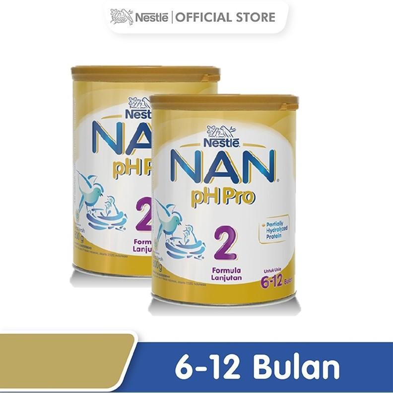 Harga-Nestle Nan pH Pro Susu Formula 6-12 bulan Kaleng 800 g x 2