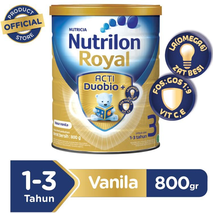 Harga-Nutricia Nutrilon Royal Acti Duobio+ 3 Vanila 800 gr - Susu Pertumbuhan