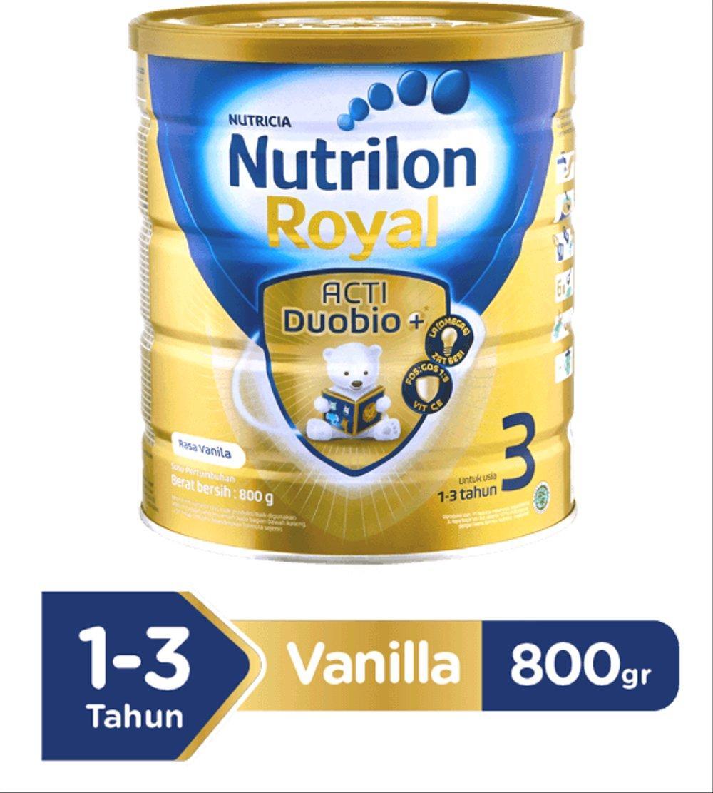 Harga-Nutrilon Royal 3 Acti Duobio Susu Pertumbuhan - Vanila - 800 gr