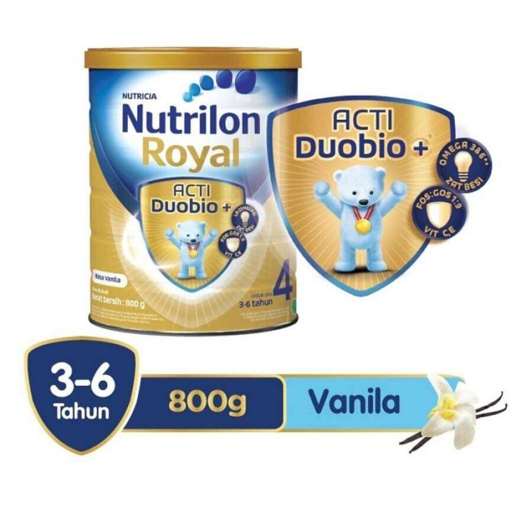 Harga-Nutrilon Royal 4 Acti Duobio Susu Pertumbuhan - Vanila - 800 gr
