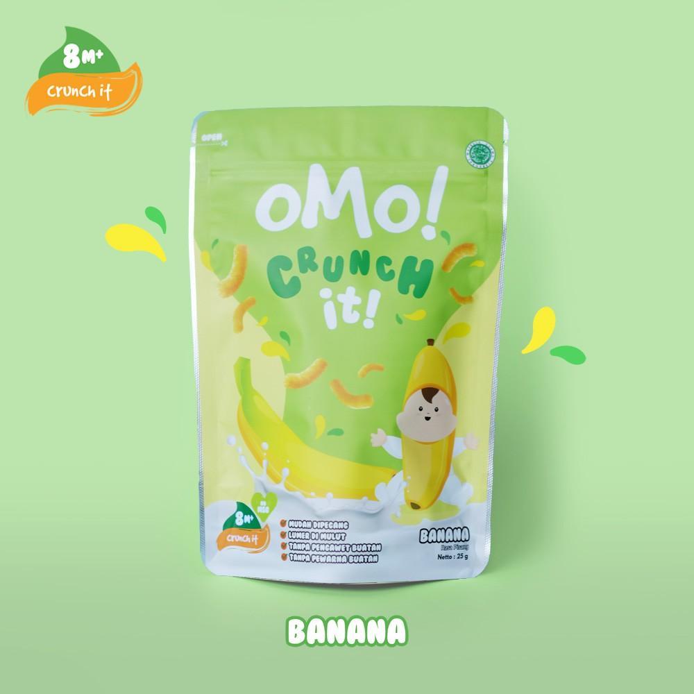 Harga-OMO! CRUNCH IT BANANA - Snack Sehat Bayi 8 Bulan++