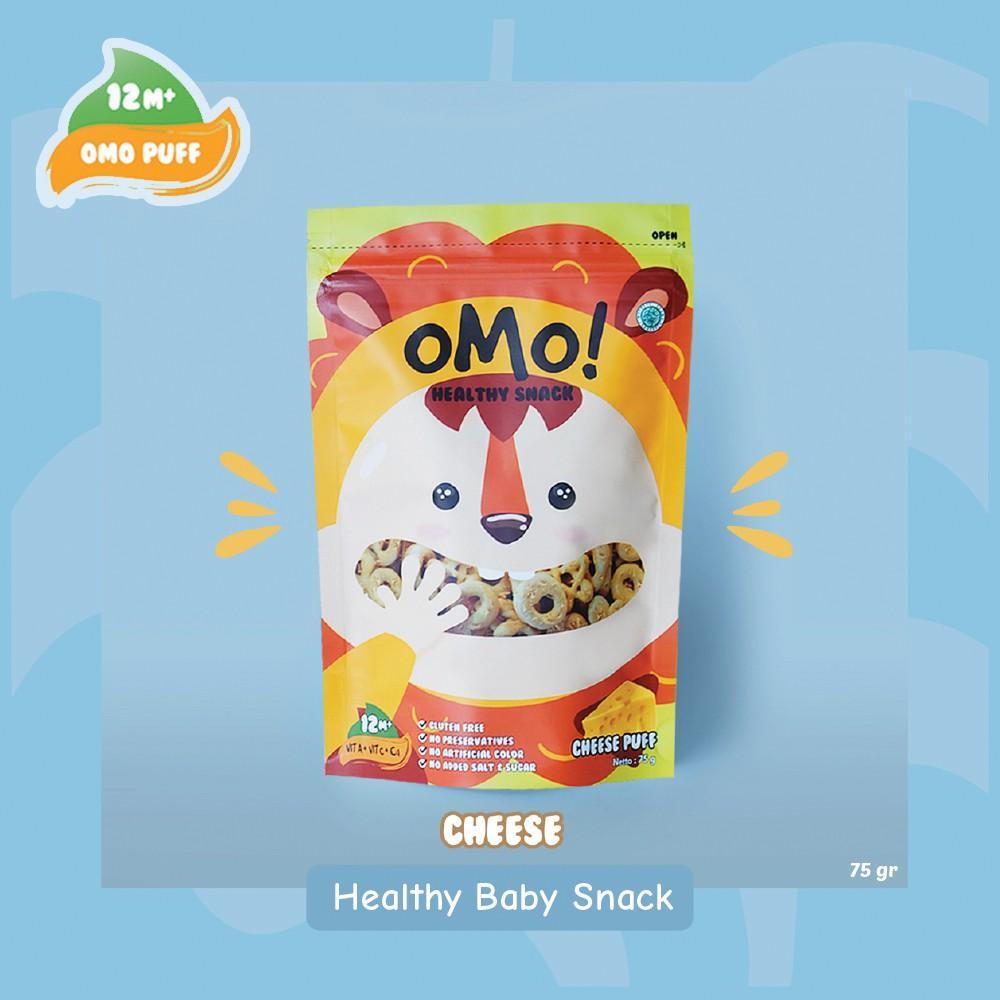 Harga-OMO! Puff Cheese - Ukuran Besar 75 gram - Snack Sehat Bayi 1 Tahun++