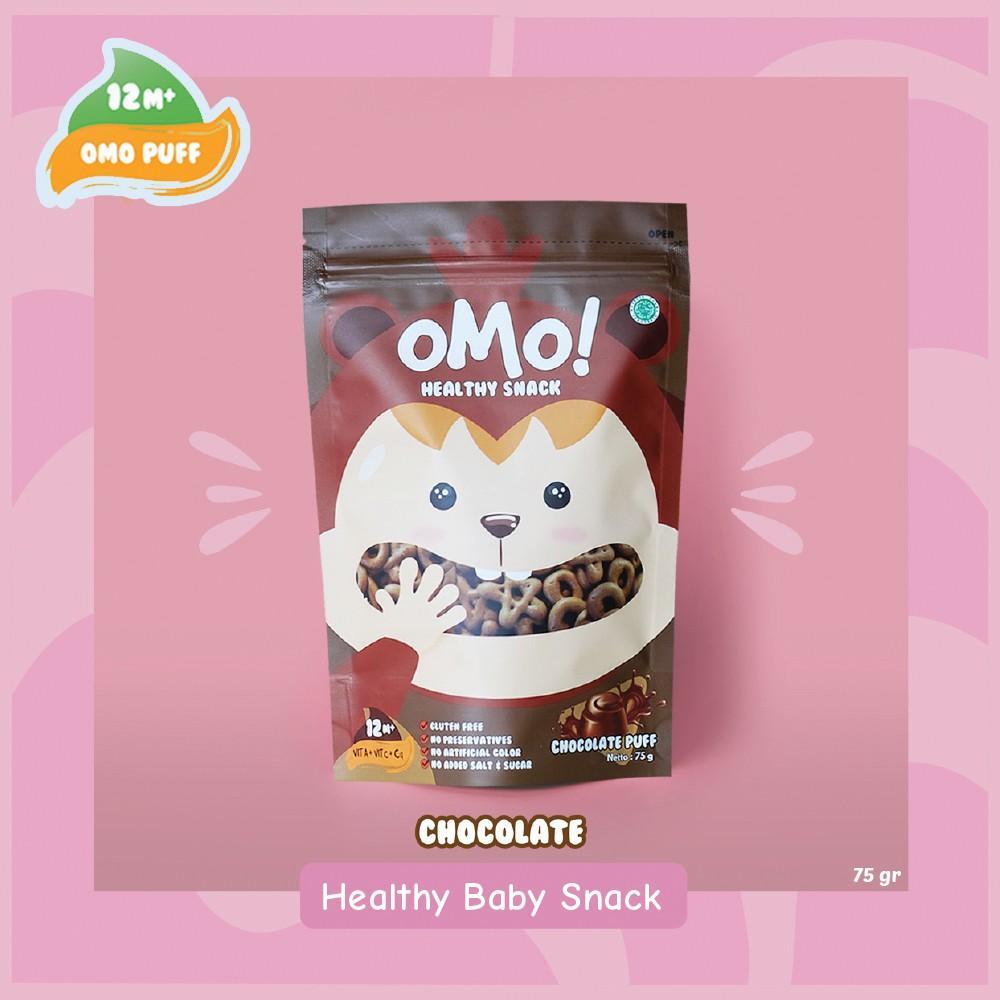 Harga-OMO! Puff Chocolate - Ukuran Besar 75 gram - Snack Sehat Bayi 1 Tahun++
