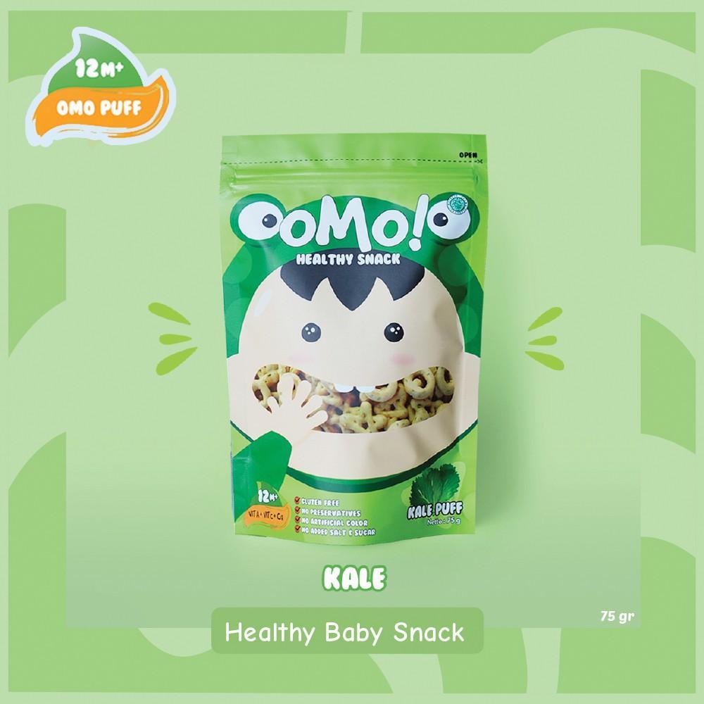Harga-OMO! Puff Kale - Ukuran Besar 75 gram - Snack Sehat Bayi 1 Tahun++