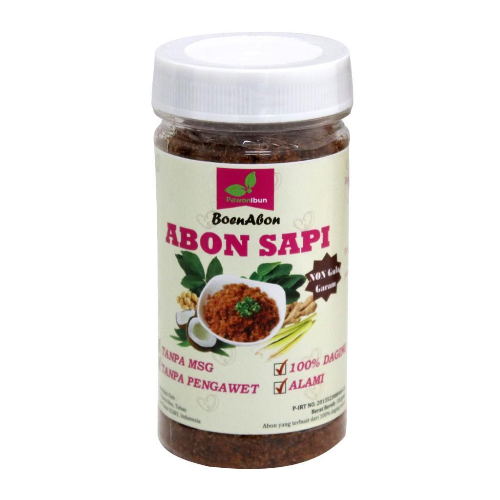 Harga-Pawon Ibun - Abon Sapi 50 gr - Makanan Bayi- Non Gulgar