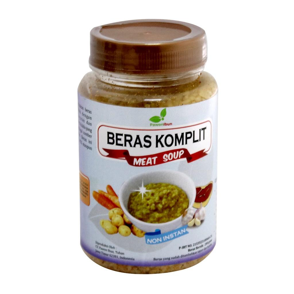 Harga-Pawon Ibun - Beras Komplit Meat Soup 200 gr - Daging Sapi- Non MSG