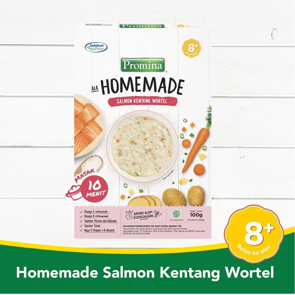Harga-Promina 8+ Homemade Bubur Salmon Kentang Wortel Box 100 g