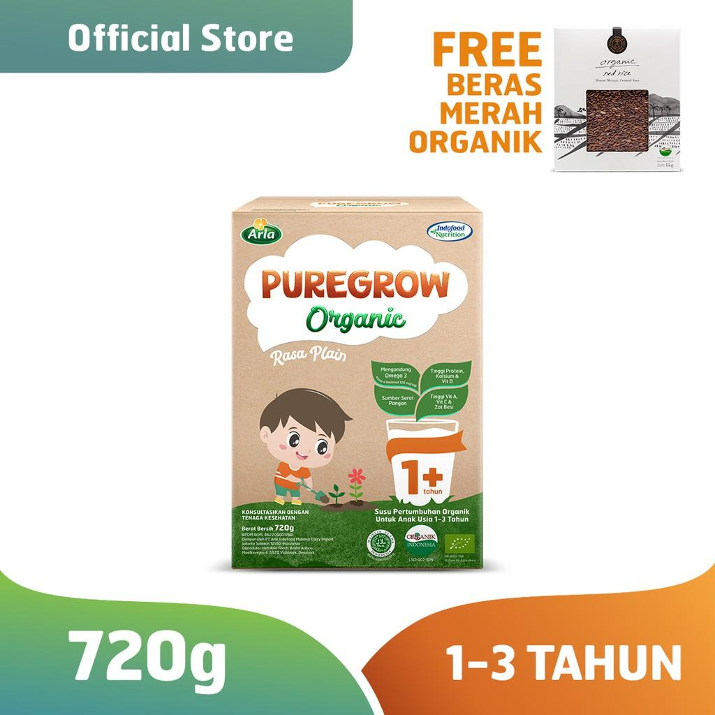 Harga-Pure grow Organic - 1-3 thn 720 gr Boy FREE East&Co Beras Organik