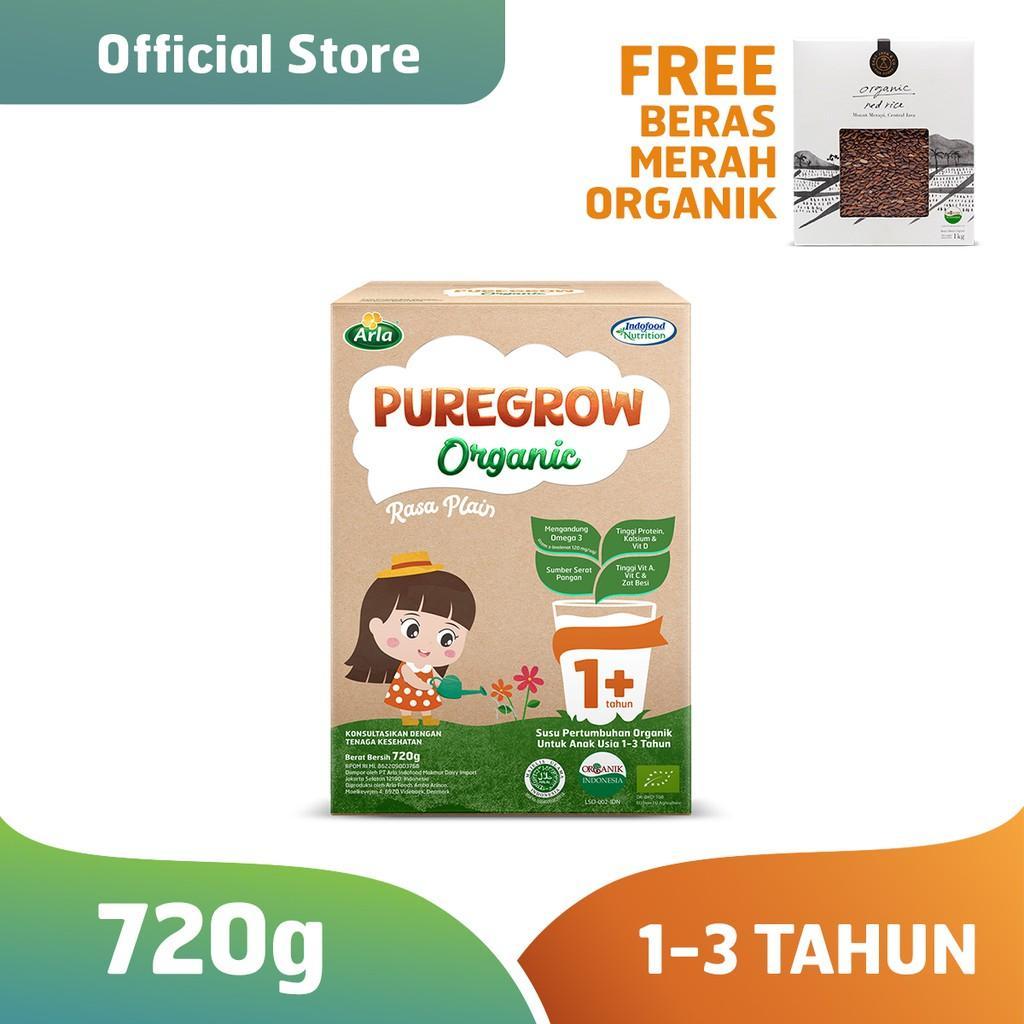 Harga-Pure grow Organic - 1-3 thn 720 gr Girl FREE East&Co Beras Organik