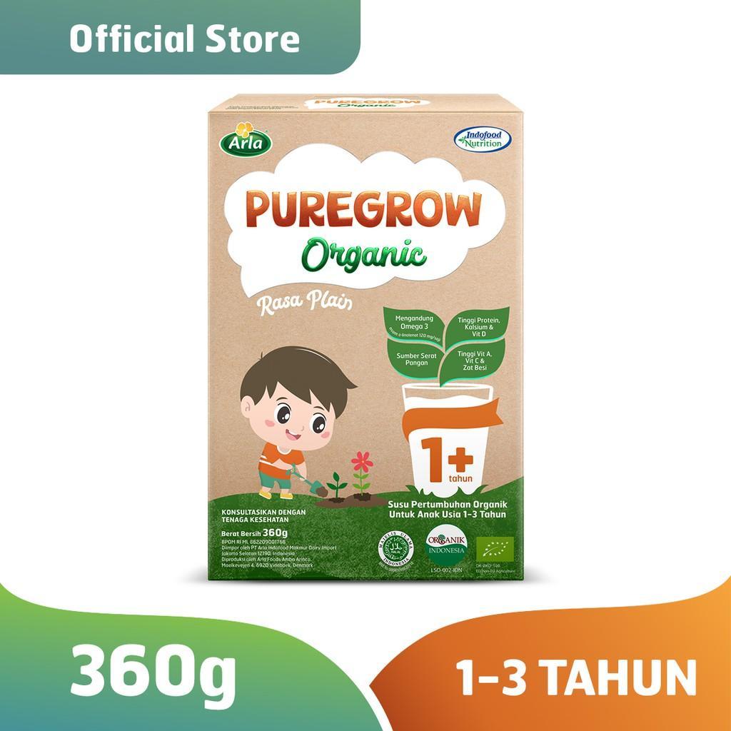 Harga-Pure grow Organic - Susu Formula Organik 1-3 Tahun 360 gr Boy